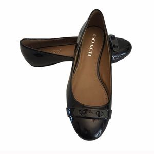 Coach Oswald patent leather slip on flat shoes